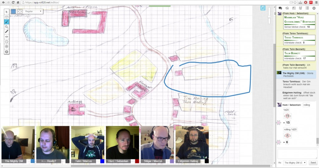 Roll20.Net Interface playing Dungeons & Dragons